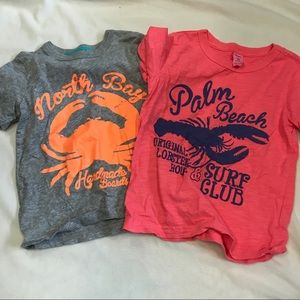 CARTERS set of two short sleeve shirts
